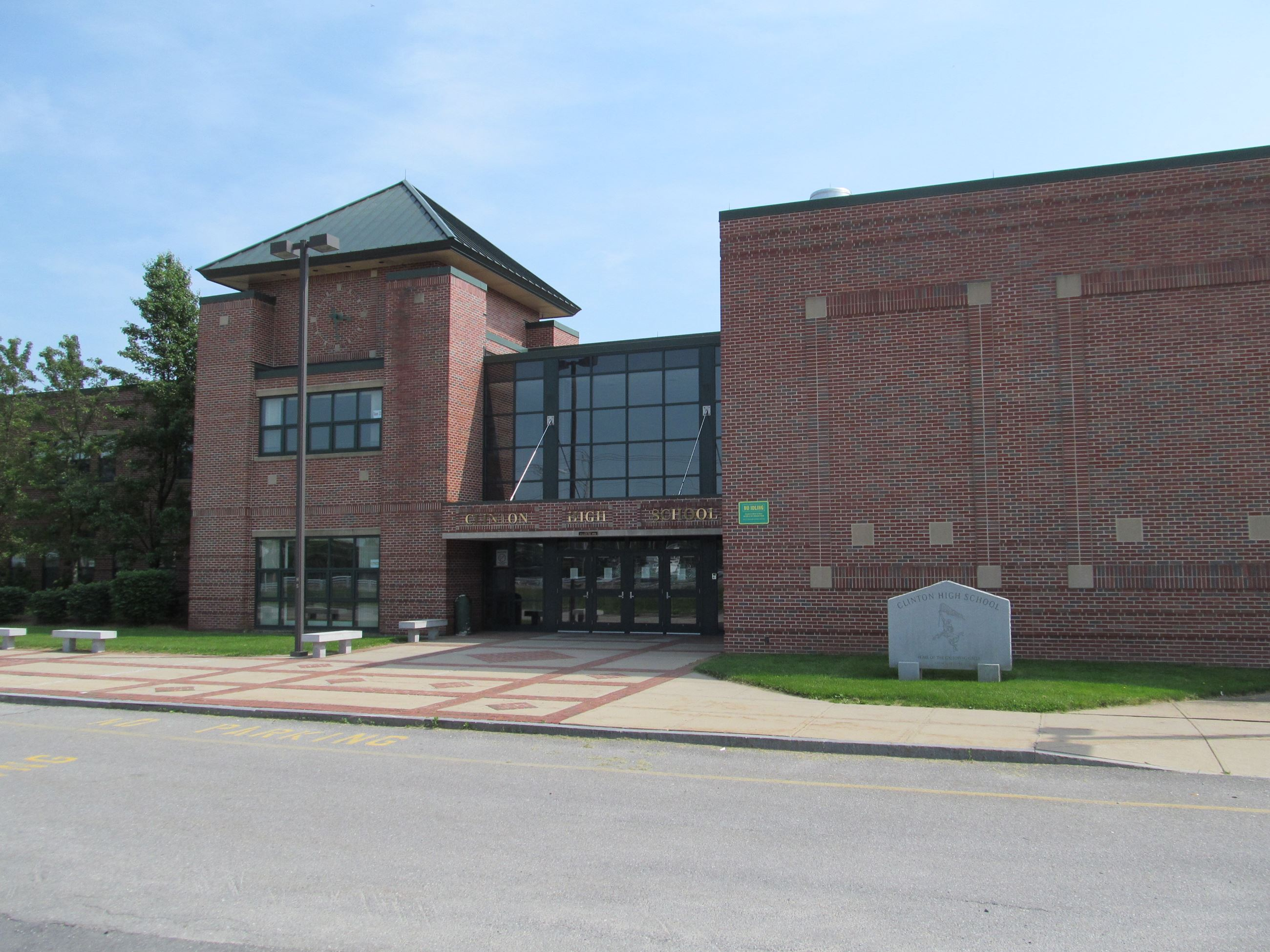 Outside view of clinton high school
